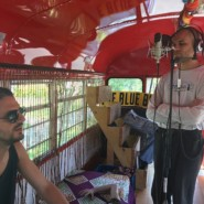 Jesse Perkins and Ivan from the Blue Bus Project had a great time recording music together