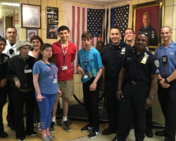 NYPD's 61st Precinct Hosts a Tour for Stephen B. Siegel Day Center