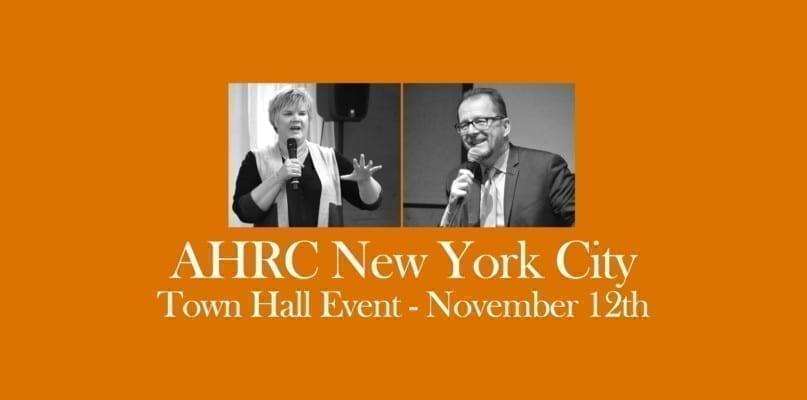 AHRC NYC Town Hall Event November 12th