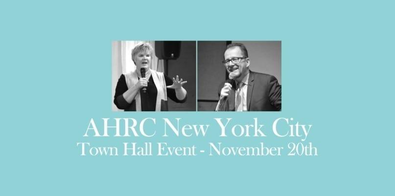 AHRC NYC Town Hall Event November 20th
