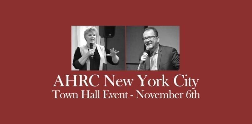 AHRC NYC Town Hall Event November 6th