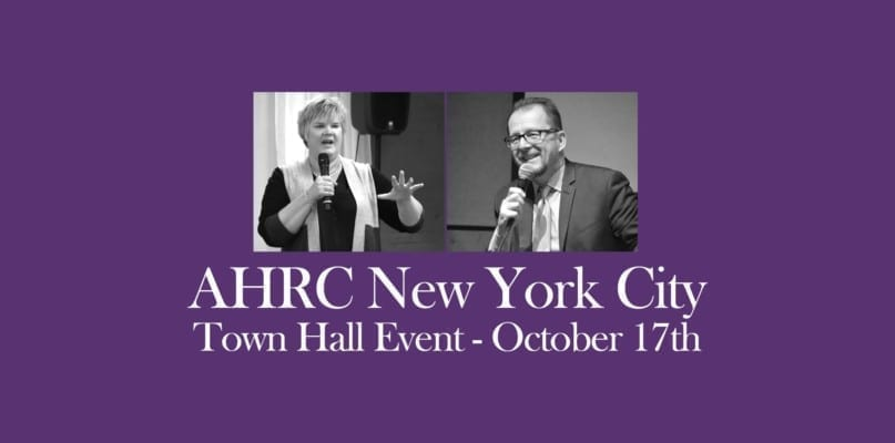 AHRC NYC Town Hall Event October 17th