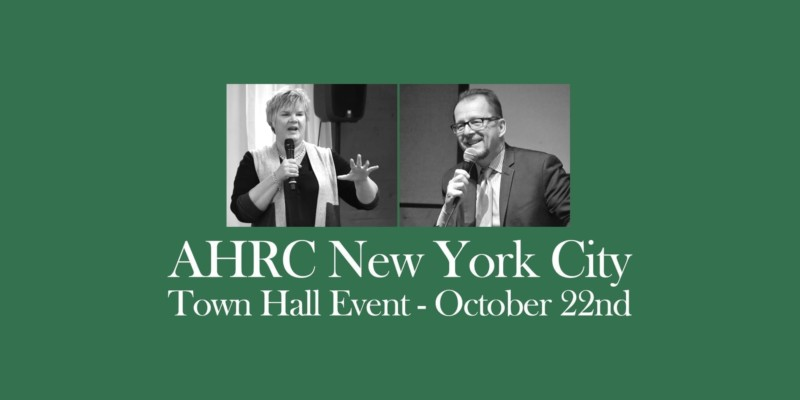 AHRC NYC Town Hall Event October 22nd