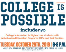 October 29th Topic: College is Possible