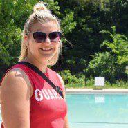 Georgia Rivers at the Camp Anne's pool