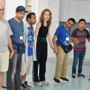 Shannon Healey, Dance Specialist, conducted an incebreaker activity with people from Shekel and from the Weingold Center.