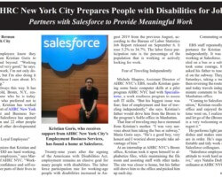 AHRC New York City Partners with Salesforce to Provide Meaningful Work