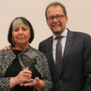 Harriet Golden, Vice President of Programs and Service Innovation, with AHRC NYC CEO, Marco Damiani. Harriet received a Lifetime Achievement Award