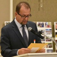 Marco Damiani, CEO of AHRC NYC, read a message from Connecticut Governor Ned Lamont recognizng Friends of Asha Niketan