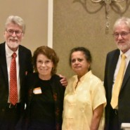 Margaret Puddington, second from left, was honored for her decades of advocacy for people with developmental disabilities