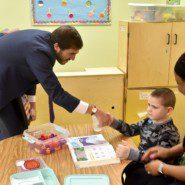 Senator Gounardes meets student, Brian