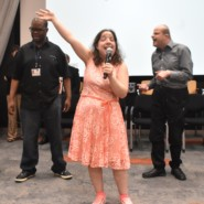 AHRC NYC on Broadway performed a number of selections from past performances at the HSBC event