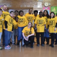 EBS Brooklyn volunteers at the 2020 MLK Day of Service in Crown Heights.
