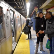Jonathan Weekes had a friendly exchange with an MTA conductor at the Jay Street station