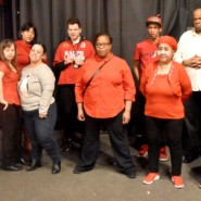 Performers and staff members joined together for an exciting performance at the Nuyorican Cafe.