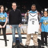 AHRC NYC was honored in a pregame on court recognition ceremony.