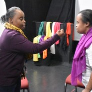 Pearl Arokium gave Latasha Marquis a piece of her mind during a Playback Theater performance