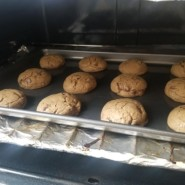 The residence baked cookies together.