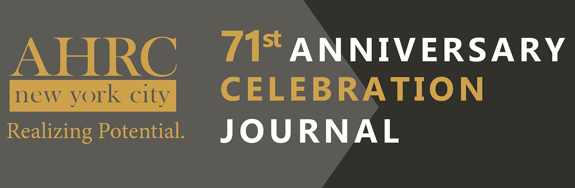71st Anniversary Celebration Journal