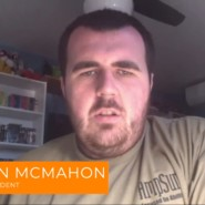 Graduate KIllian McMahon gave a speech durin a remote graudation for MRHEP students
