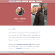 The homepage of Fred Harmer's new website