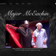 The homepage of Major McEachin's new website