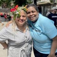 Awilda Aponte with Sylvania Duncan