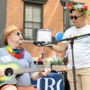 Jason Conover with Sacha Amry at the annual NYC Pride March
