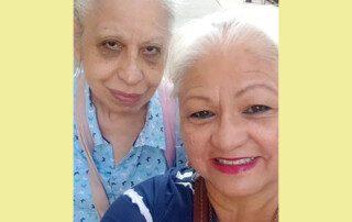 Irma Vega with Blanca Ortiz of Homecare